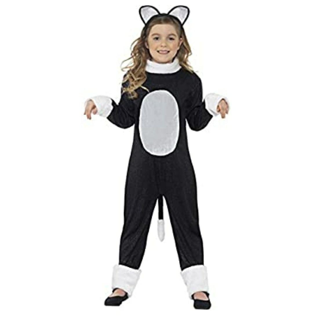 Disfraz de gato para niñ@s, talla 4-6 años