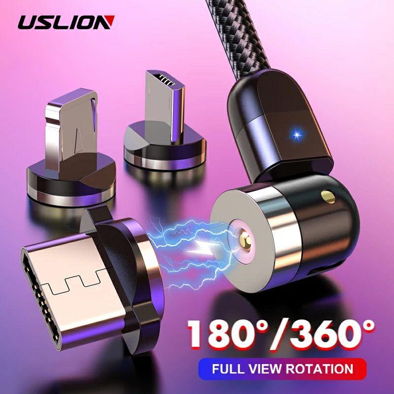 Cable Carga Rápida Magnético 360° (Tipo C   iPhone   Micro USB)