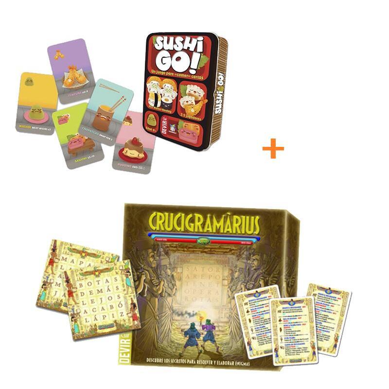 Pack Juegos de mesa Crucigramarius + Sushi GO