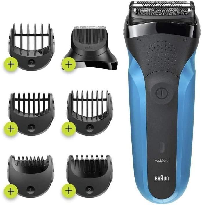 Braun Series 3 Shave & Style 310BT - Afeitadora eléctrica para barba (tecnología Wet & Dry), color negro y azul