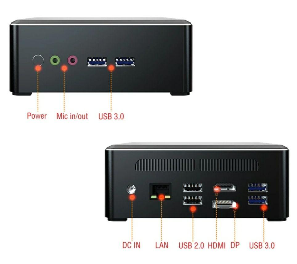 MINI PC: Ryzen 7 2700u + Vega 10 + 8gb RAM + SSD 512gb + WiFi
