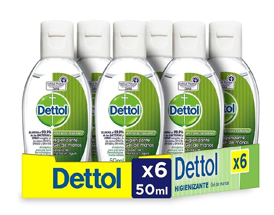 6 uds Gel hidroalcoholico higienizante de manos - 50 ml x 6