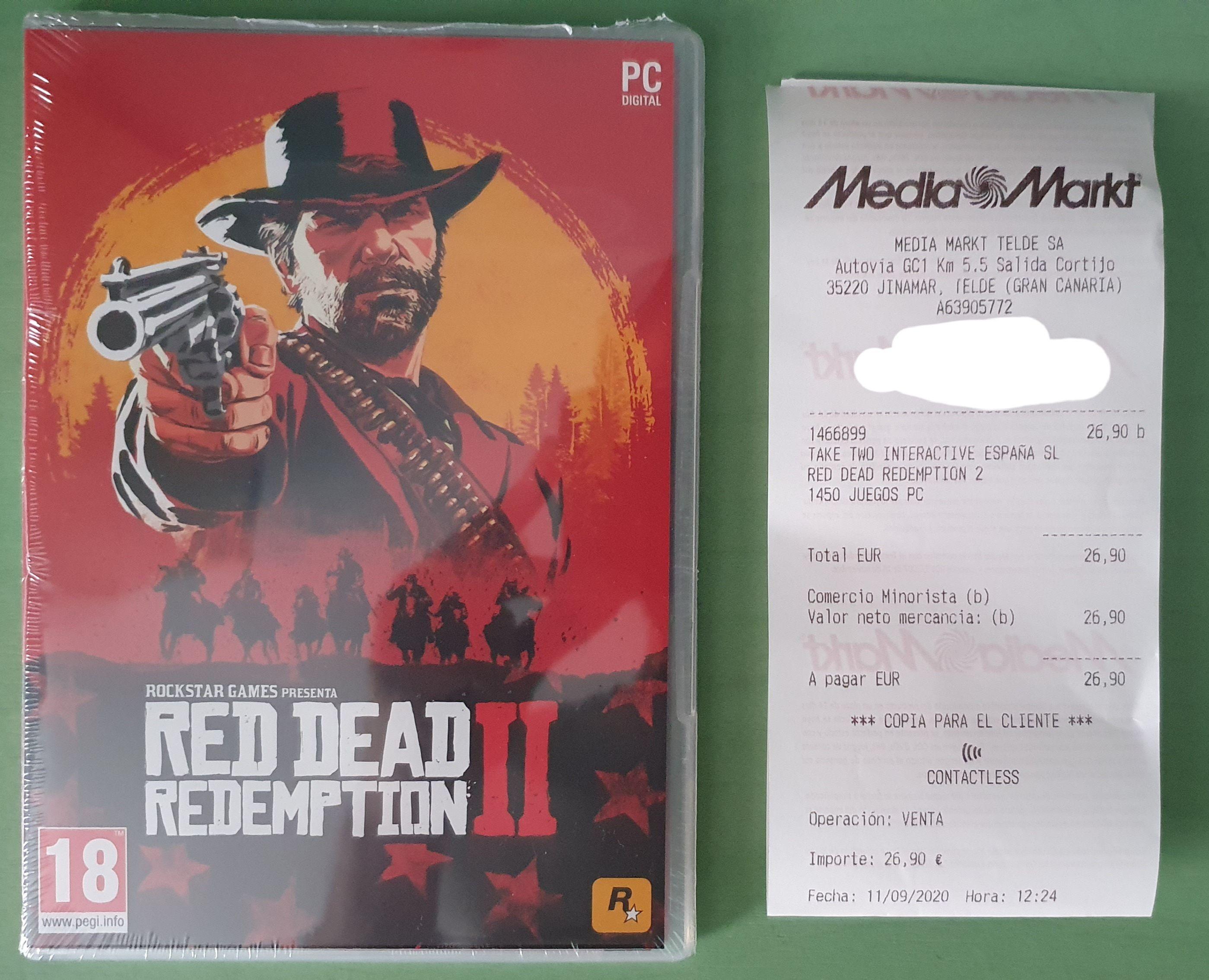 Juego FÍSICO PC - Red Dead Redemption 2 en Gran Canaria