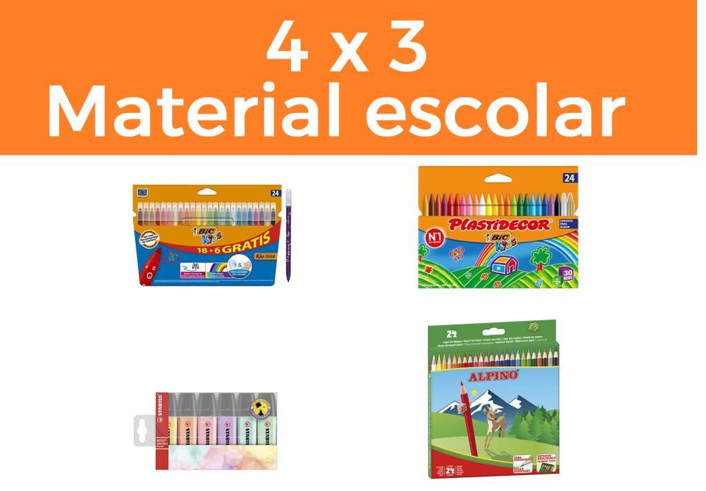 Descuento 4X3 en Amazon - Material oficina y papelería