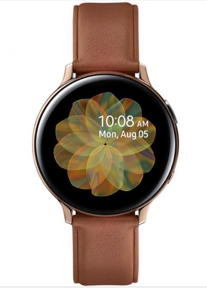 """Samsung Galaxy Watch Active2 SAMOLED 3,43 cm (1.35"""") Oro GPS Ed. Cuero/Acero"""