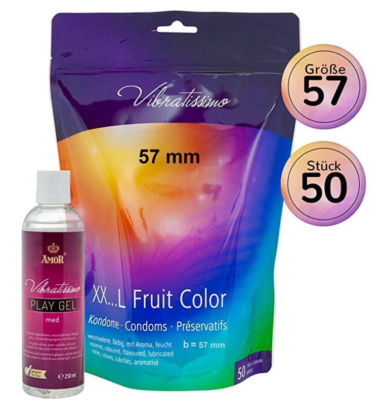 Pack 50 Preservativos + 250ml Gel Lubricante Vibratissimo (Compra Recurrente)