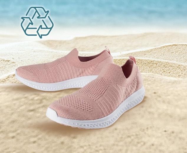 Zapatillas deportivas de material reciclado sin cordones mujer