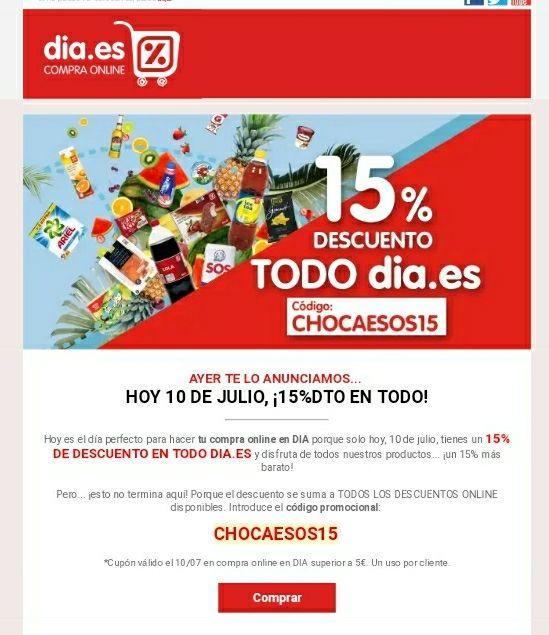 15% DE DESCUENTO sólo online (TAN SÓLO HOY)