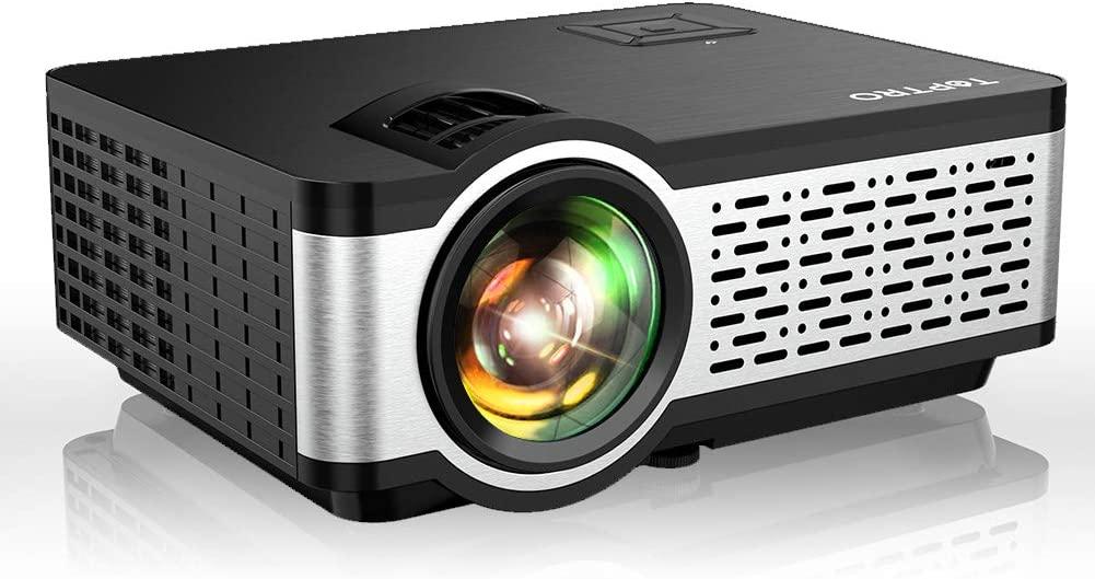 Mini proyector 5500 lúmenes, soporte Full HD 1080P (resolución nativa 1280x720P), altavoz HiFi, LED 60000 horas. Mínimo histórico