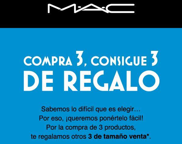 MAC Cosmetics... Compra 3, ¡llévate 6!