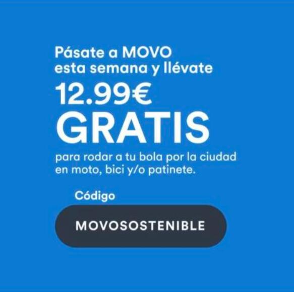 12,99€ gratis MOVO (nuevos usuarios)