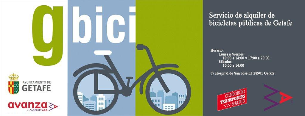 Abono anual a Gbici al 50% (Servicio de alquiler de bicicletas publicas de Getafe)