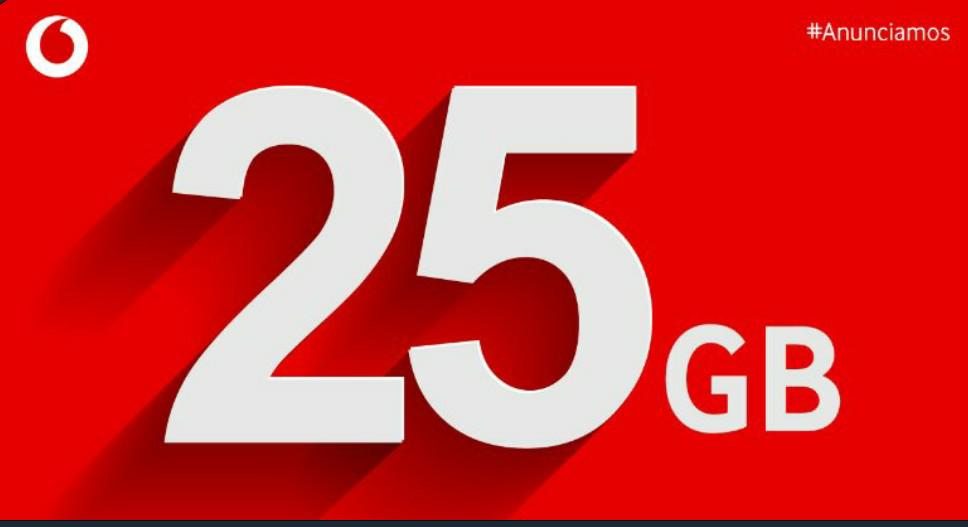 25GB Adicionales para el verano para todas las tarifas de Vodafone.
