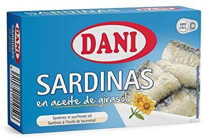 12 latas de sardinas en aceite girasol.