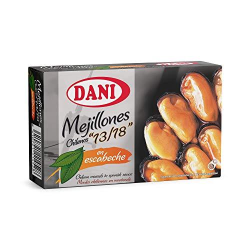 Dani - Mejillones 13/18 en escabeche o picante Pack 6 x 106 gr.