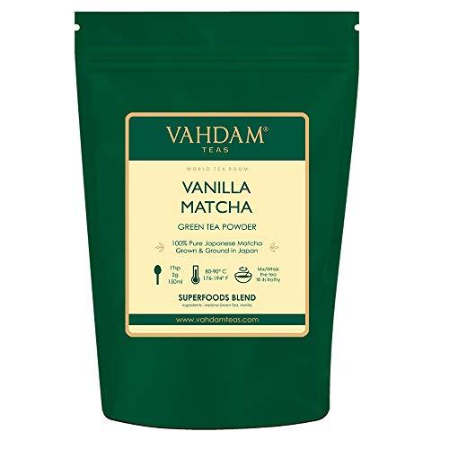 té verde matcha de vainilla (50 porciones 100 g)   100% PURE Matcha Tea Powder de origen japonés