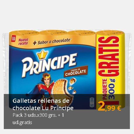 Galletas Lu Príncipe 3 uds. x 300 g. + 1 unidad gratis = 1200 g