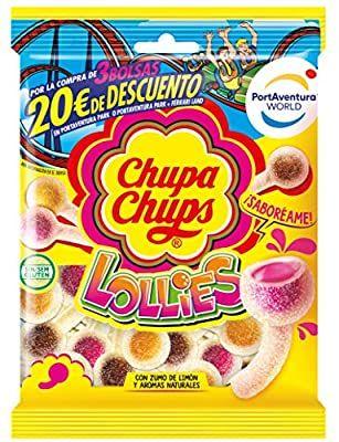 Chupa Chups Gomis 175gr + descuento 20€ en Port Aventura si compras 3 bolsas