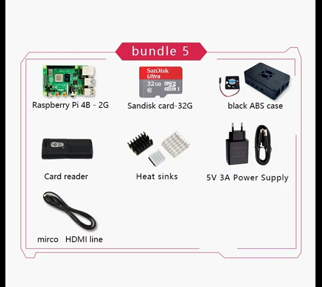 Kit Raspberry Pi 4B 2gb todo incluido por 49,29€