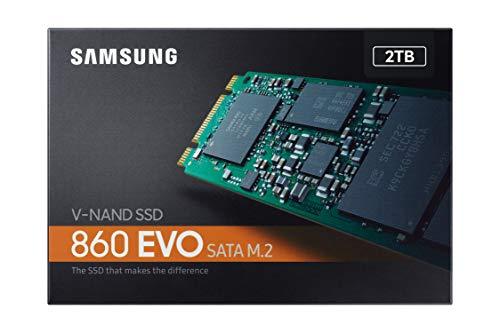 SSD 2TB Samsung 860 EVO M.2 MZ-N6E2T0BW - Disco estado solido SSD, 550 megabytes/s