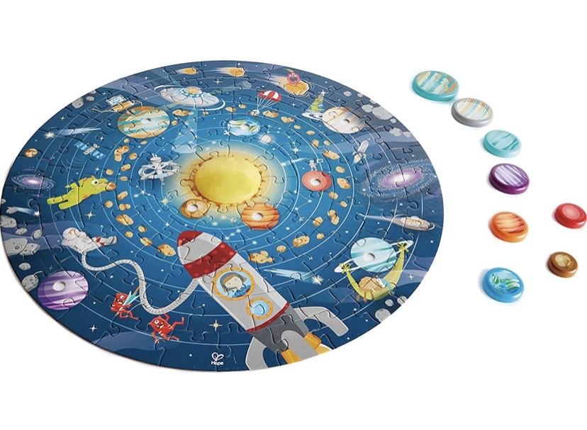 Puzzle Sistema Solar, El sol se ilumina