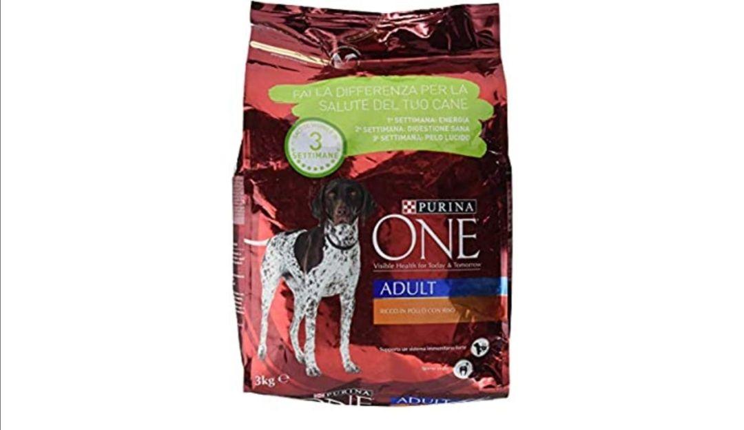 Purina One - Croquetas para Perro, Adulto, Rico en Pollo con arroz, 3 kg