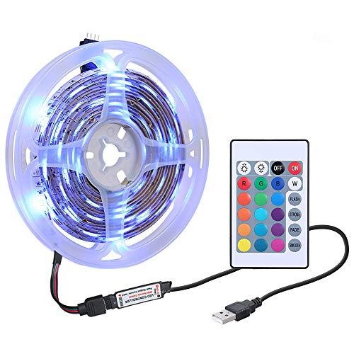 Tiras LED, Tickas Tira de luz 1M DC5V 0.6W 60 LED RGB con mando a distancia