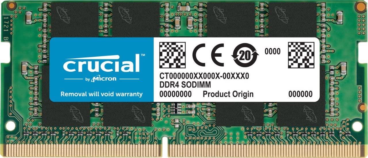 Crucial Memoria RAM de 32 GB (DDR4, 3200 CMT/s, SODIMM, 260-Pin, 1.2V, CL22) CT32G4SFD832A