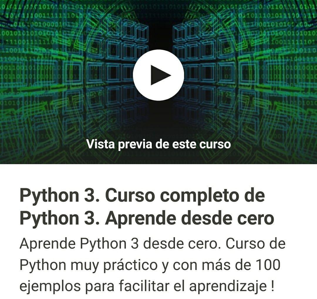 Curso de Python desde cero GRATIS