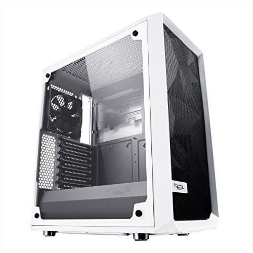 Fractal Design Cristal Templado Alto Flujo de Aire Compacto meshify C ATX PC Caso – Blanco