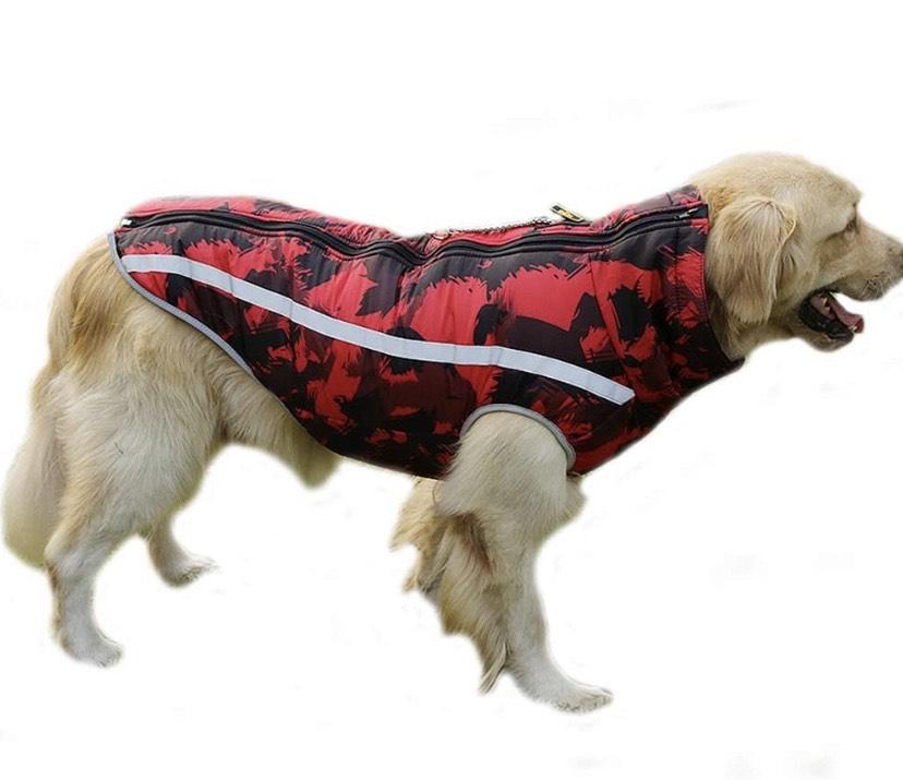 Abrigo para Perros cálido, Suave, Ligero, Impermeable, Acolchado para Perro enorme