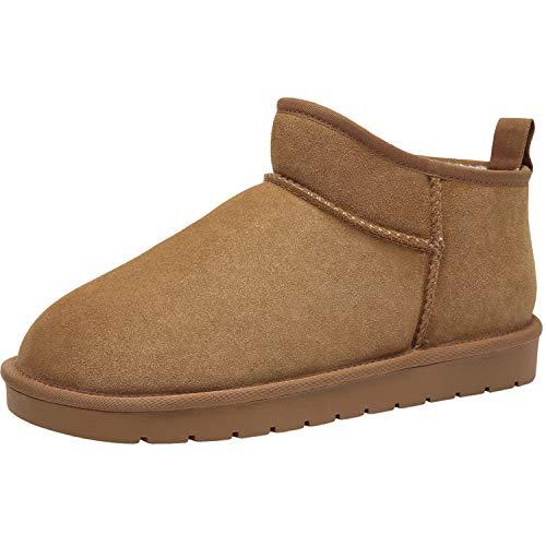 Zapatos de Casa Botas de Invierno Hombre Espesar