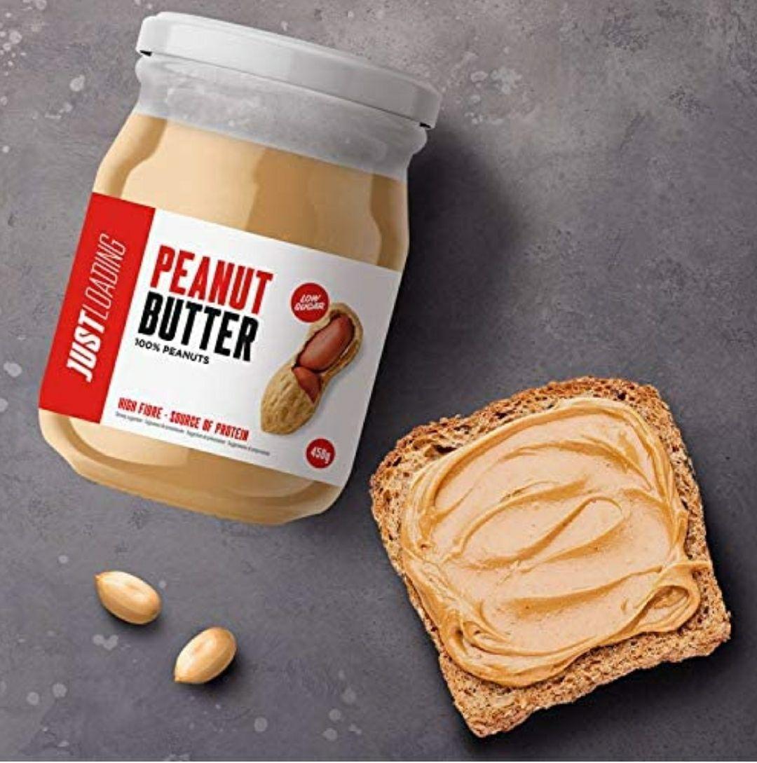 Just Loading - Crema de Cacahuete 100% Natural 500 g - Sin gluten y fuente de proteínas