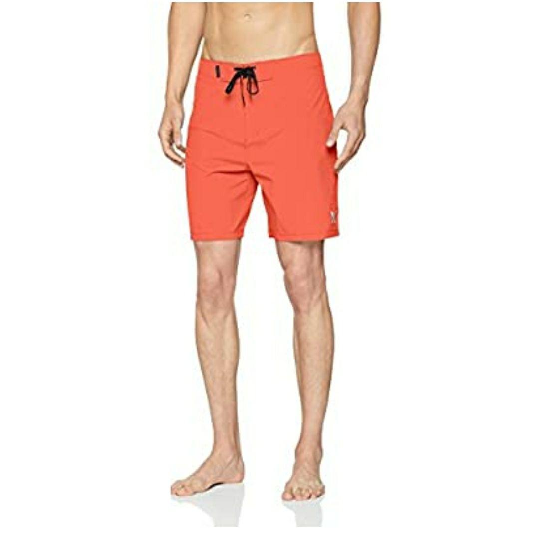 TALLA XS - Hurley Phantom One&Only 18 - Bañador Hombre. Color naranja