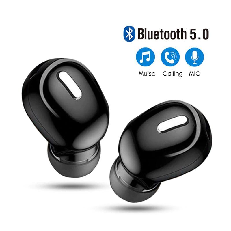 Auriculares Mini intrauditivos 5,0 con Bluetooth (ojo viene solo 1) para manos libres way