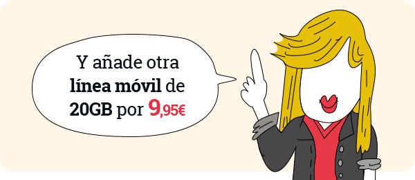 Líneas ️ADICIONALES️ LOWI 20Gb+ILIMITADAS por 9,95€ para clientes de fibra