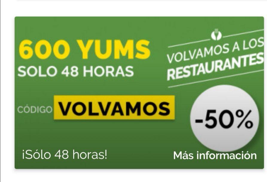 600 YUMS En la app de El Tenedor