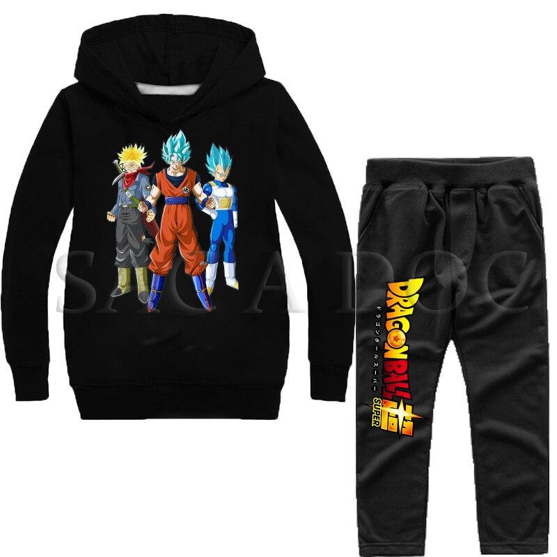 Conjuntos de ropa para niños y niñas de Dragon Ball en 24 modelos a elegir.