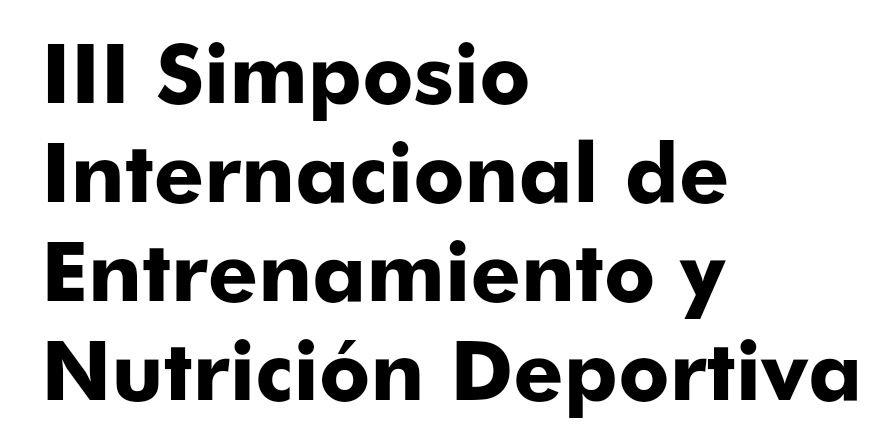 GRATIS: III Simposio Internacional Entrenamiento y Nutrición Deportiva: Uni Europea-Real Madrid