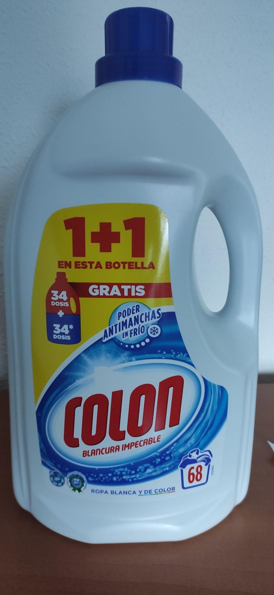 Detergente Colón gel activo 68 lavados (34+34, tienda física)