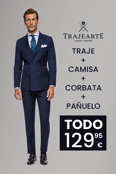 Traje + camisa + corbata + pañuelo