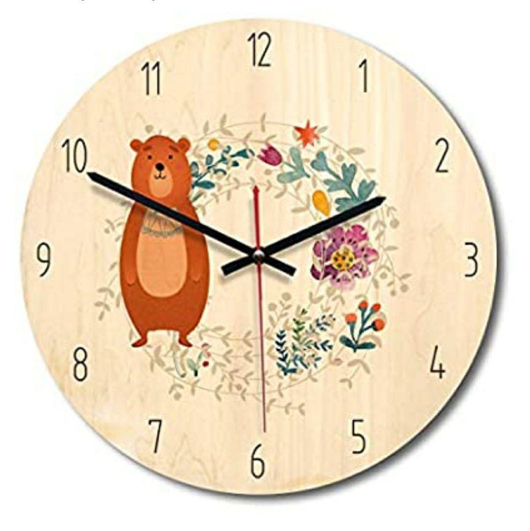 Ruosaren Reloj de Pared de madera. Color marrón