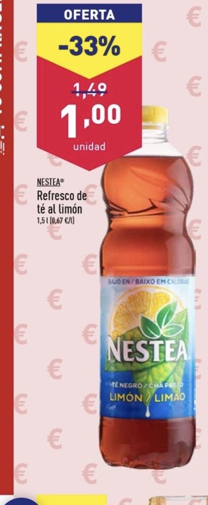 Nestea refresco de té al limón 1,5 litros en Aldi