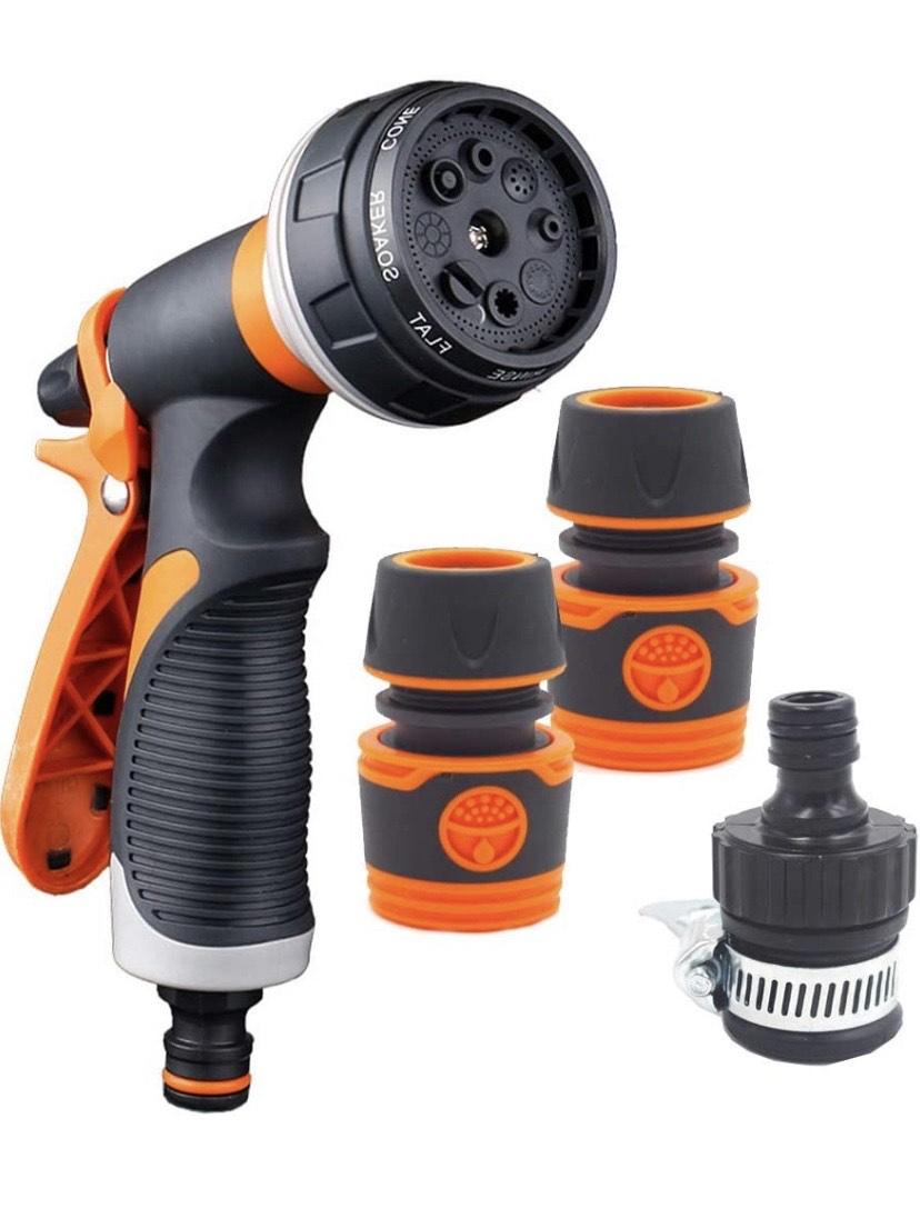 YLX Pistola de Riego Pistola de Agua de Jardín con 8 modos, Alta Presión Para Lavado