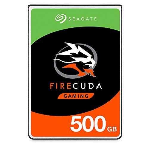Seagate FireCuda, 500 GB, Disco duro interno híbrido, SSHD de alto rendimiento, 2,5 in, SATA, 6 Gb/s, caché de 8 GB para videojuegos