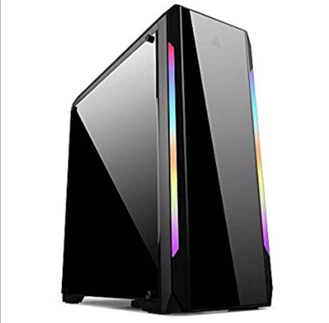 Golden Field - Caja de ordenador para juegos ATX/M-ATX/ITX con ventana negro N23 NON-FAN