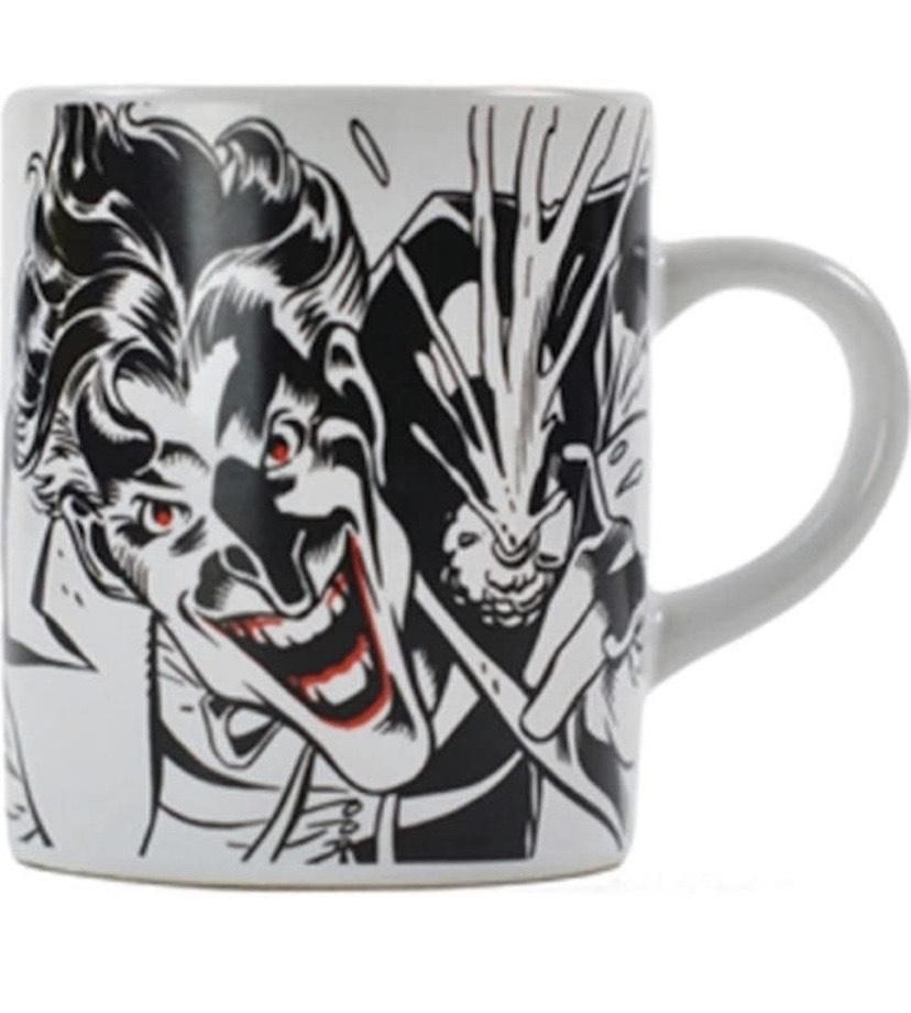 Batman The Joker Suicide Squad Mini Mug Cup Black White Official Boxed Gift