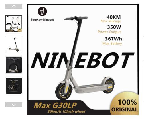 Patinete Ninebot Max G30LP envio desde Europa.