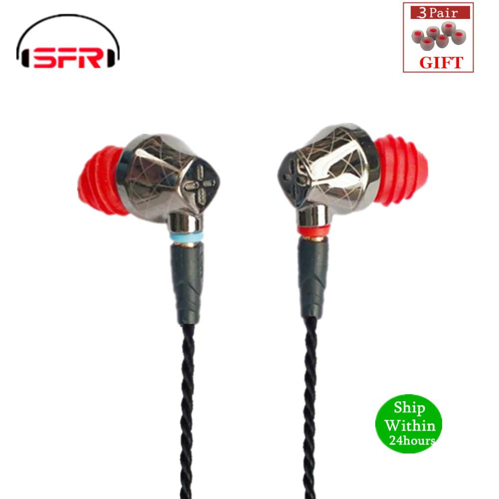 Auricular Hibrido Senfer DT6 (1DD + 1BA + 1PE) con cable reemplazable MMCX (precio minimo)