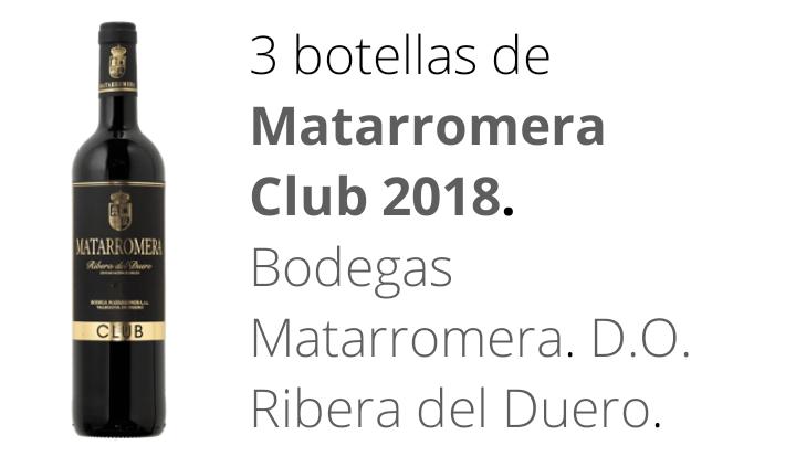 Vino tinto 3 Matarromera Club + 3 Emina Club 2018